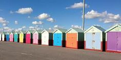 Brightly painted beach huts on the West coast UK. #farmhouse #Etsy #rustic #reclaimed  #wood #interiors #UK #handmade #design #country #rainbow #surf #Devon #ocean #traditional #sea  #surfing to find out more go to www.facebook.com/woodbyname?ref=hl