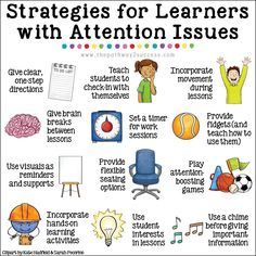 Interventions for Executive Functioning Challenges: Attention Over 20 interventions, strategies, and supports to help teach attention skills to kids and young adults. Being able to focus and pay attention is a requirement for learning! Classroom Behavior, Special Education Classroom, Kids Education, Texas Education, Higher Education, Special Education Activities, Inclusion Classroom, Education Icon, Teacher Education