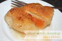 Sweet potato dumplings!