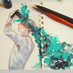 Anime Art, Watercolor Art, Colorful Art, Drawings, Cute Art, Art Inspiration, Pretty Art, Creative Art, Book Art
