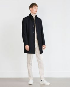 ZARA - MAN - STRUCTURED COAT WITH REMOVABLE COLLAR
