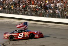 All of Dale Earnhardt Jr.'s Monster Energy NASCAR Cup Series victories  Monday, October 10, 2016  4. Sept. 23, 2001, Dover International Speedway, MBNA Cal Ripken Jr. 400  In the first premier series race following the 9-11 attacks, the image of Dale Jr. during his burnout while holding an American flag is one of NASCAR's most indelible moments.  Photo Credit: Getty Images  Photo: 4 / 26