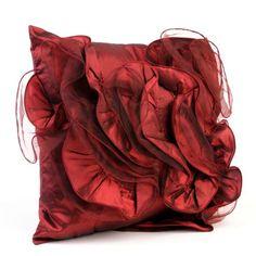 Burgundy Rose Pillow