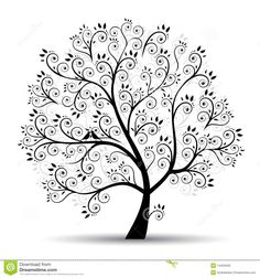 Art Tree Beautiful, Black Silhouette - Download From Over 62 Million High Quality Stock Photos, Images, Vectors. Sign up for FREE today. Image: 14429430