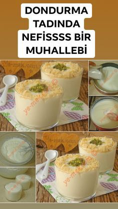 Dondurma Tadında Nefis Bir Muhallebi : Krem Şantili Muhallebi A Delicious Custard with Ice Cream Taste: Cream Whipped Custard the cream the Custard Recipes, Pudding Recipes, Cheesecake Recipes, Dessert Mousse, Bon Dessert, Ice Cream Flavors, Ice Cream Recipes, Whipped Pudding Recipe, Flavored Lemonade