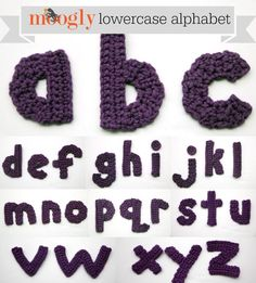 """Subscribe to the Free Weekly Newsletter The Moogly Crochet Alphabet led to a request for Numbers…. and now at last I've finished the lowercase set! I kept the same """"font"""" as the capitals as much as possible, making them perfect to mix and match. I hope you enjoy them! These letters can be made with [...]"""