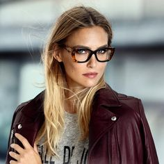 "Bar Refaeli ""How I wish I needed glasses !  Nerdy is sexy @carolinalemkeberlin new season. Out now"""