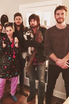 Liam Hemsworth Kicks Off the Holidays by Spending Time With Miley Cyrus's Family