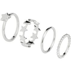 4er-Pack Ringe 4,99 ($5.99) ❤ liked on Polyvore featuring jewelry, rings, accessories, metal jewelry and metal rings