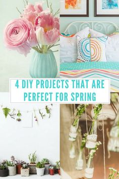 4 DIY Projects That Are Perfect For Spring. Home projects don't need to cost hundreds of dollars, and you can actually do DIY projects for the springtime! Not only is this a fun way to improve your creativity and spend time with loved ones, but you can save a lot of money as well! Here are our top four easy and affordable DIY projects to make your home have that spring vibe!