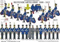 プレート268:プロイセン王国:騎馬砲兵1808年から1815年