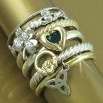 Irish Stack Jewelery Love and want these bracelets ! Heart Jewelry, Jewelry Box, Jewelery, Jewelry Accessories, Trendy Jewelry, Fashion Jewelry, Irish Rings, Erin Go Bragh, Irish Jewelry