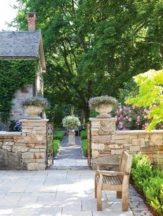 Roses and Rust: The Aesthete's Alphabet - S is for Stone: great inspiration for the driveway.