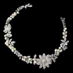 Affordable Elegance Bridal - Freshwater Pearl and Crystal Flower Wedding Hair Clip Headband, $96.99 (http://www.affordableelegancebridal.com/freshwater-pearl-and-crystal-flower-wedding-hair-clip-headband/)