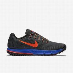 more photos 02191 2a8ce Nike Men s Anthracite Racer Blue Laser Orange Total Crimson Air Zoom  Wildhorse 3 Running Shoe