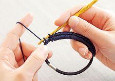 ふわふわボリュームが華やか かぎ針編みシュシュの会 how to make