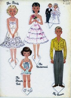 The Paper Doll Wedding by Hilda Miloche & Wilma Kane, Little Golden Activity Books #A22  (3 of 16)