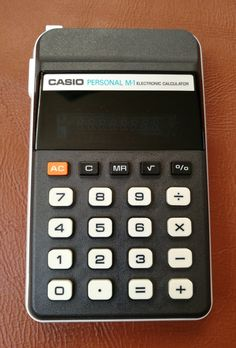 Vintage Casio Calculator. Casio Personal M-1 Electronic Calculator. Casio Computer Co Ltd M-1 Calculator Model H-813C Pocket Calculator by OnyxCollectables on Etsy