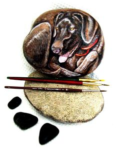Custom Pet Hand Painted Rocks Listing for Tammy by Naturetrail, $55.00