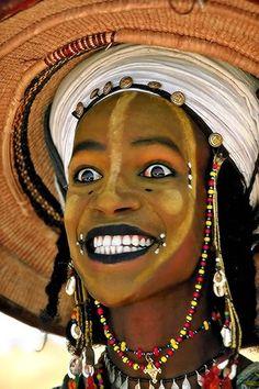 """Fulani/wodaabe man at the """"gerewol""""!"""