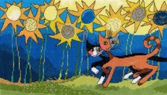 Sunflower Way - Rosina Wachtmeister Cross Stitch
