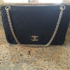 Chanel medium Double flap. Lambskin. Gold hardware. Mademoiselle. CHANEL Bags Shoulder Bags