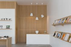 Trend Alert: 11 Periodical-Style Shelves for Design Book Lovers - Remodelista Shop Front Design, Store Design, Design Shop, House Design, Traditional Bookshelves, Interior And Exterior, Interior Design, Slat Wall, Wood Storage