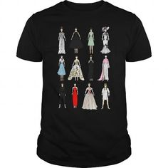 I Love Outfits of Audrey Hepburn Fashion T-Shirt Shirts & Tees