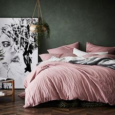 Zena Quilt Cover in Blush