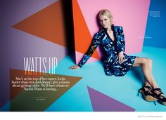 InStyle UK | February 2015 | Naomi Watts by Max Abadian | Styled by Arabella Greenhill