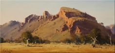 Temple Bar Station NT - 60 x 40 © Copyright John Wilson Landscape Art, Landscape Paintings, Landscape Photography, Oil Paintings, Cool Landscapes, Beautiful Landscapes, Australian Painting, Australian Art, Long Painting