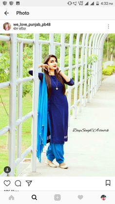 Indian Suits, Indian Attire, Punjabi Suits, Punjabi Fashion, Patiala, Ethnic, Poses, Princess, How To Wear