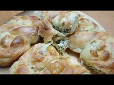 Traditional pies with English subtitles Romanian Food, Pastry And Bakery, Tasty Dishes, Potato Salad, Tart, Food And Drink, Appetizers, Bread, Traditional