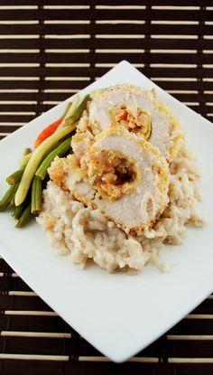 Garlic Shrimp Stuffed Chicken Breast dish as a main course