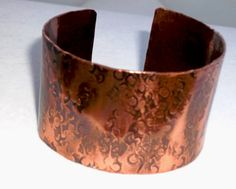 Hammered/Textured Wide Copper Cuff by mimi1214 on Etsy