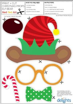 ) - Red Ted Art - Make crafting with kids easy & fun Preschool Christmas, Christmas Games, Christmas Activities, Christmas Photos, Christmas Holidays, Christmas Templates, Free Christmas Printables, Christmas Photo Booth Props, Theme Noel
