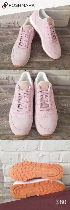 5ff20631565 Womans sneakers Reebok classic leather pink suede and gum bottom! Worn  once