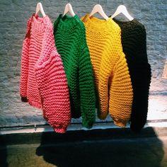 Bunte Pullover