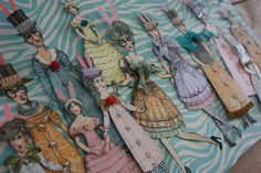 Jackie Peters Easter 2015 paper dolls using Catherine Moore's Character Constructions stamps