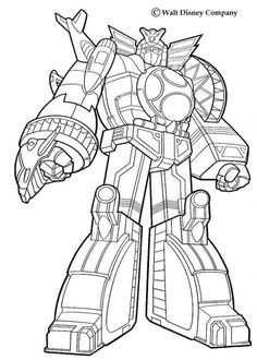 giant robot coloring page from power rangers coloring pages more tv series coloring sheets on