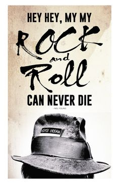 Neil Young Custom Poster Rock and Roll can by MusicAndArtCoUSA