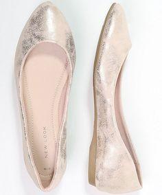 New Look KURRENCY złote klasyczne Baleriny bronze