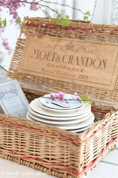 Champagne basket of dishes