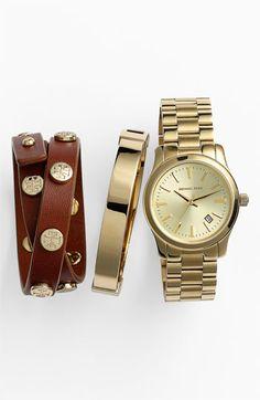 Michael Kors Watch & Tory Burch Bracelet | Nordstrom