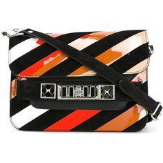 Proenza Schouler mini 'PS11' shoulder bag (81.280 RUB) ❤ liked on Polyvore featuring bags, handbags, shoulder bags, black, miniature purse, mini handbags, studded shoulder bag, shoulder handbags and mini purse