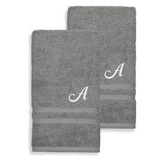 Linum Home Textiles Denzi Cotton Hand Towels - Set of 2 Twilight Blue - DNZ50-2HT-LF-00-V, Durable