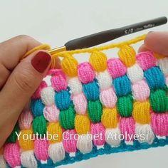 Youtube Crochet, Crochet Blocks, Crochet Quilt, Crochet Toys, Crochet Motif, Crochet Clothes, Crochet Baby, Knit Crochet, Crochet Flowers