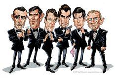 James Bond 007... Sean Connery, George Lazenby, Roger  Moore, Timothy Dalton, Pierce Brosnan, Daniel Craig. #JamesBondIsAll