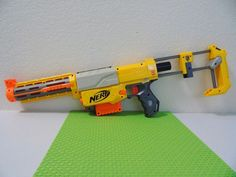 Nerf N-Strike Recon CS-6 Yellow Nerf Gun with Shoulder Stock,Barrel