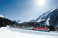 Glacier Express zwischen Preda und Naz.